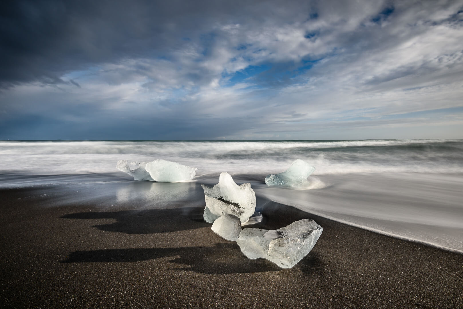 Little Icebergs Diamond Beach - Iceland